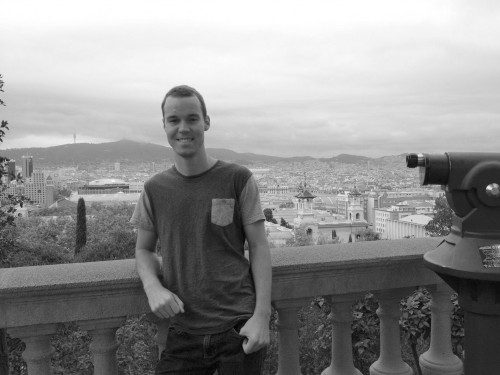 Junior Dillon Olagaray stands above the beautiful city of Madrid.