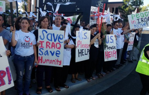 El Cajon, a hub for Iraqi refugees, was the site of recent demonstrations calling for the United States to grant asylum to thousands of Iraqi Christians facing threats by the militant group.