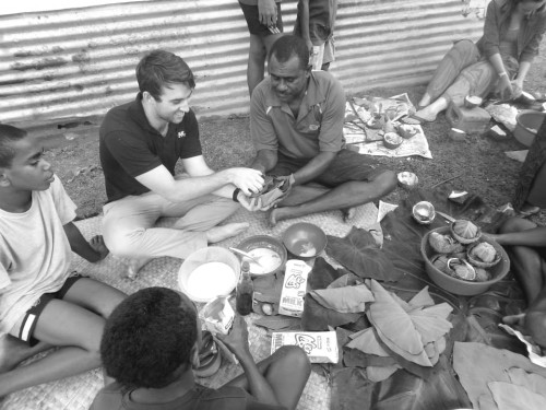 USD '14 graduate Trent Mendenhall is currently volunteering with the Peace Corps in Fiji.