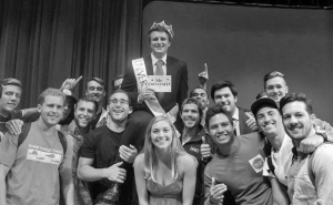Ryan Safar of Beta Theta Pi took home the crown of Mr. University on Thursday, April 9 in Shiley Theatre in front of hundreds of students.